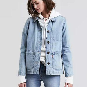 Levis Chore Coat XS Light Wash Denim